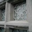 Repairs built up in lime mortar