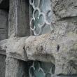 Weathered stone transom