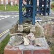 Severely damaged coping stone