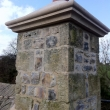 New copings, chimney pot and lime mortar pointing